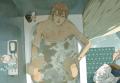 炸毛在泡澡