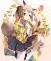 狐耳の和風メイド